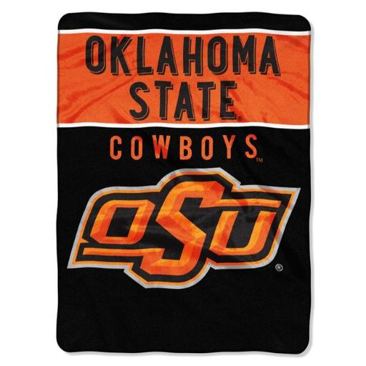 The North West 1COL-08030-0013-RET Oklahoma State Cowboys Collegiate Plush Raschel, 60 x 80 in.