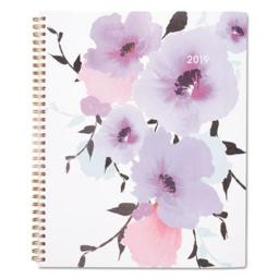 ATA Glance 1134905 8.5 x 11 in. Cambridge Mina Weekly & Monthly Planner, Purple - Large