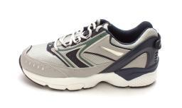 APEX Mens Rhino X Last X532 Low Top Lace Up, Silver/Blue Runner, Size 11.5