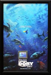 Finding Dory - Signed Movie Poster in Wood Frame with COA