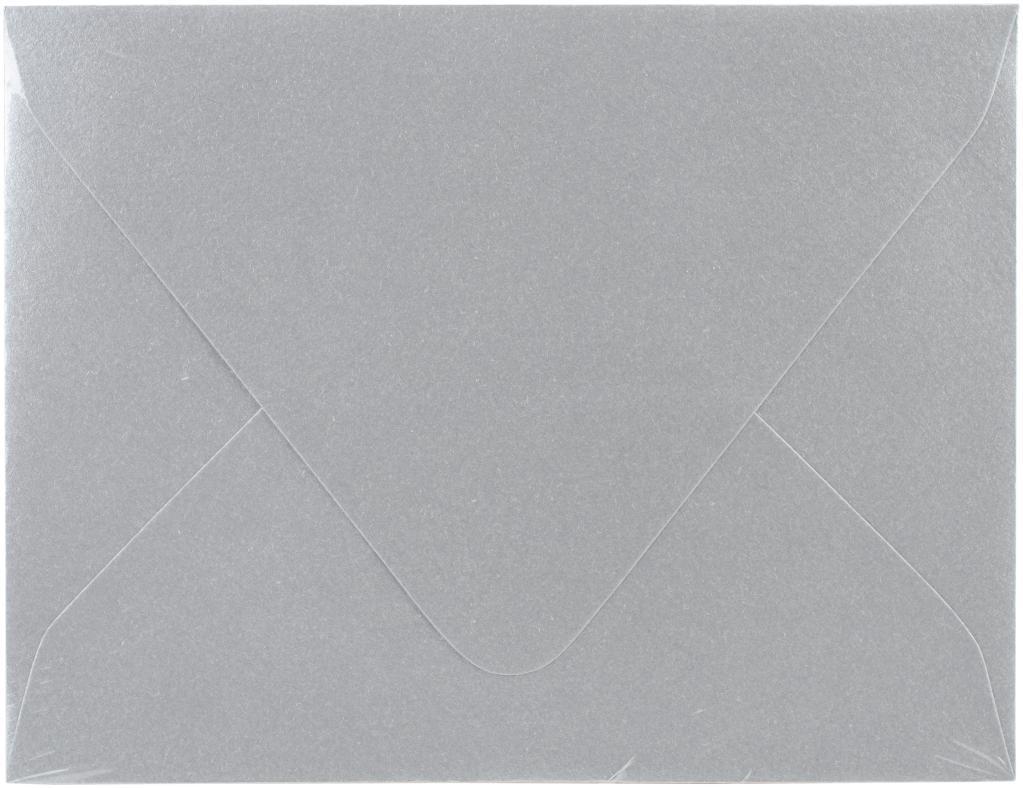 A2 Envelopes 50/Pkg-Silver Metallic