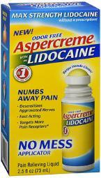 Aspercreme With 4% Lidocaine Odor Free Pain Relieving Liquid - 2.5 Oz
