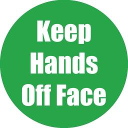 Flipside products keep hands off face green anti-slip