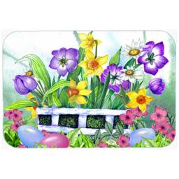 Carolines Treasures PJC1099LCB Finding Easter Eggs Glass Cutting Board, Large PJC1099LCB