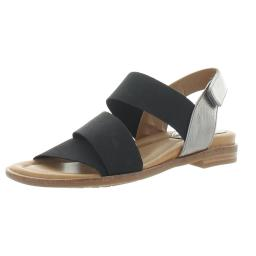 Comfortiva Womens Dacey Metallic Ankle Flat Sandals