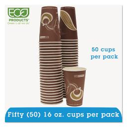 Evolution World 24% Recycled Content Hot Cups Convenience Pack - 16OZ . 50/Pk | 1 Pack of: 50
