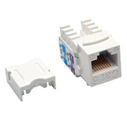 Tripp lite n238-025-wh cat6/cat5e 110 style punch down keystone jack - white, 25-pack