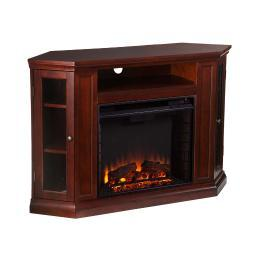 Holly and Martin Ponoma Convertible Media Electric Fireplace in Cherry