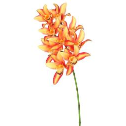 Vickerman FA172003 Real Touch Orchid-9 Heads Floral Stem, Orange