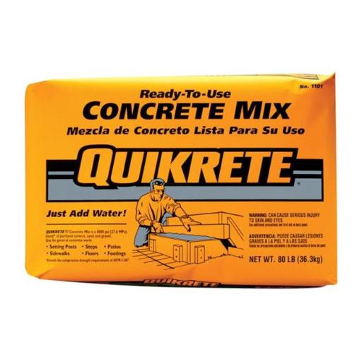Quikrete 110180 Concrete Mix 80 lbs