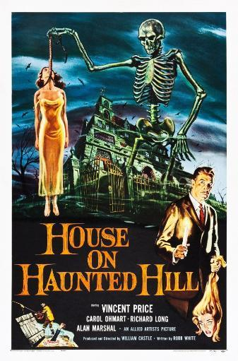 House On Haunted Hill Alternate Poster Art For Vincent Price Classic 1959 Movie Poster Masterprint