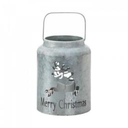 Christmas Collection 10018550 Reindeer Galvanized Led Candle Lantern