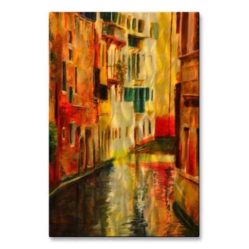 All My Walls 0002ME00019 Colored Walls Venice Metal Wall Art, Multicolored - Small