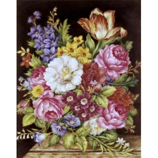 Posterazzi SAL900124601 Bouquet of Flowers Gerard Cornelis 1680-1745 Dutch Oil on Canvas Poster Print - 18 x 24 in.