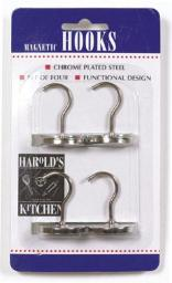 Hic 43103 Magnetic Hooks, Chrome Plated Steel