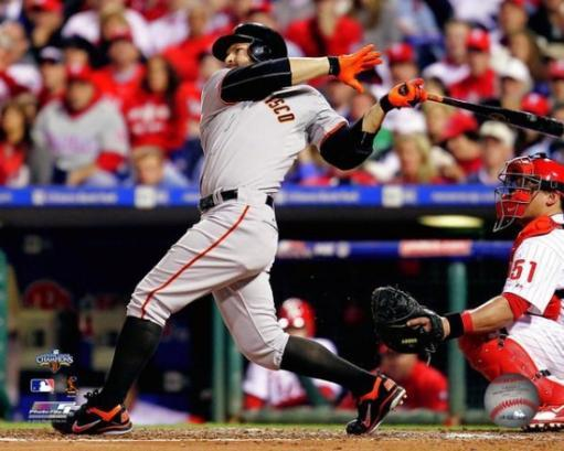 Cody Ross 2010 NLCS Game 2 Home Run Action Photo Print