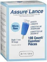 Assure Lance Micro Flow Safely Lancets - 100 Count
