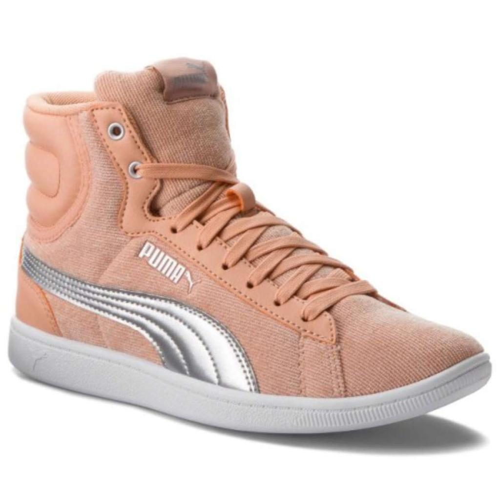 4c35aad03df5 Puma PUMA Womens Vikky Suede Low Top Lace Up Fashion Sneakers ...