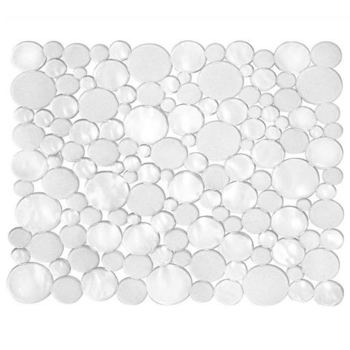 Interdesign 09250 10.75 x 12 in. Clear Bubbli Sink Protector Mat, Pack of 6