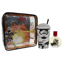 Star Wars By Air-Val International For Kids - 3 Pc Gift Set 1.7Oz Edt Spray, Plastic Cup With Straw, Toiletry Bag