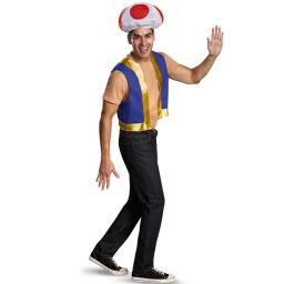 Toad Adult Accessory Kit Super Mario Brothers Golden Coins Halloween Costume