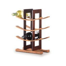 Anchor hocking 98617 bamboo wine rack espresso acc.
