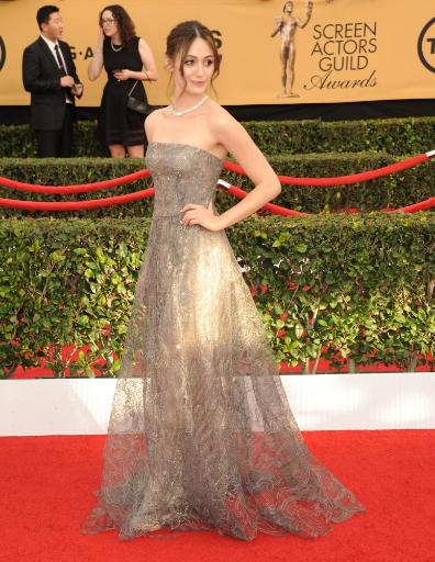 Emmy Rossum At Arrivals For 21St Annual Screen Actors Guild Awards - Arrivals 2, The Shrine Exposition Center, Los Angeles, Ca January 25, 2015.