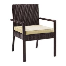 Modern Marketing Concepts CO7133-BR Palm Harbor Outdoor Wicker Dining Chair - Set of 2