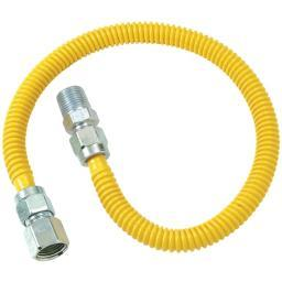 Brasscraft(r) cssd54-48 gas dryer & water heater flex-line (1/2od x 48 (1/2 fip x 1/2 mip)