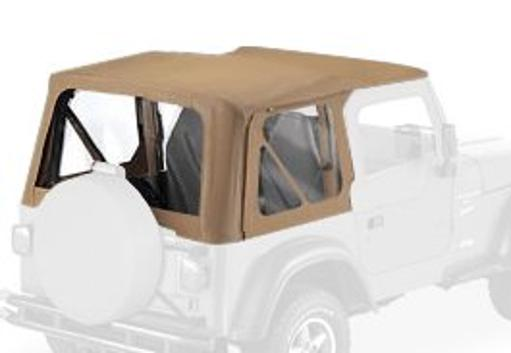 Bestop 51121-37 Spice Replace-a-Top Soft Top Clear Windows-With Upper Door Skins-No frame hardware included- 1997-1998 Jeep Wrangler
