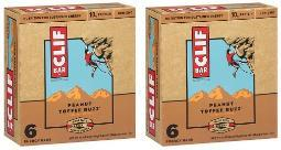 Clif Energy Bars Peanut Toffee Buzz 2 Box Pack