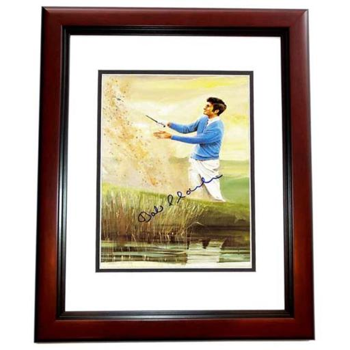 Real Deal Memorabilia BCharles8x10-3MF Bob Charles Signed - Autographed Golf Legend 8 x 10 in. Photo - Custom Mahogany Frame - Guaranteed to Pass PSA
