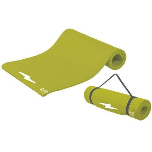 Fitness Deluxe 12mm Exercise Mat - Lime