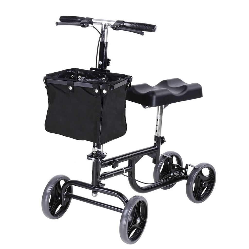 Steerable Medical Knee Walker Scooter w/ Basket Rolling 4- Wheeled Weight Capacity 300 lbs