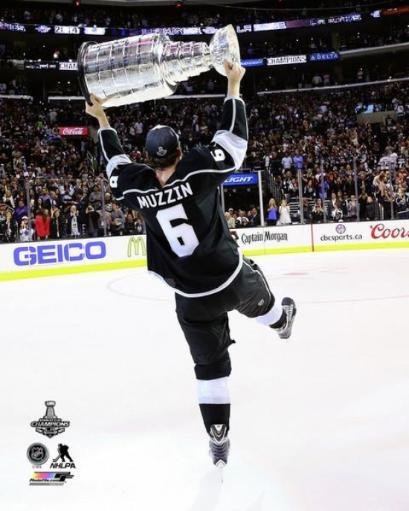 Jake Muzzin with the Stanley Cup Trophy Game 5 of the 2014 Stanley Cup Finals Photo Print YHBUPTJBA2DQVTJL