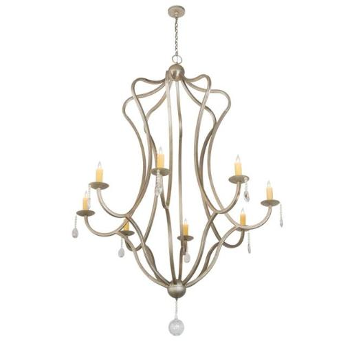 2nd Ave Lighting 202413-29 187 x 68 in. Lumierre Chandelier, Champagne Toast - 8 Bulbs