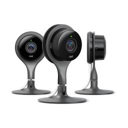 Nest Cam Indoor 1080p HD 3-Pack Home Security Camera NC1104US - Black