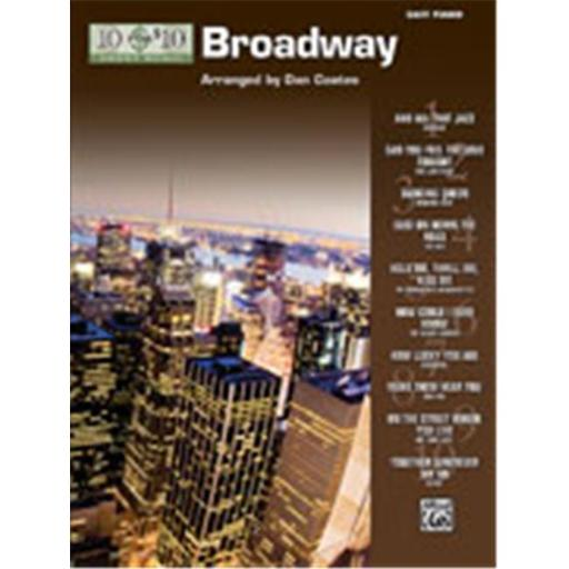Alfred 00-32193 10 for 10 Sheet Music- Broadway - Music Book