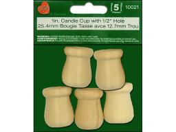 Lar10021 lara s wood pkg candle cup 1 5pc