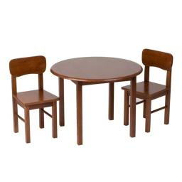 Giftmark 1407C Natural Hardwood Round Table and Chair Set - Cherry Finish
