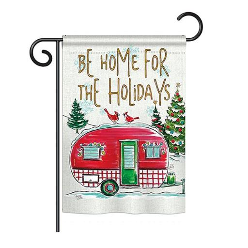 Breeze Decor BD-XM-G-114201-IP-BO-DS02-US Home for Holidays Winter - Seasonal Christmas Impressions Decorative Vertical Garden Flag - 13 x 18.5 in.