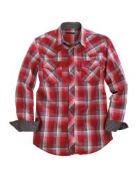Tin Haul Western Shirt Mens Flag L/S Snap Red 10-001-0062-0744 RE 10-001-0062-0744 RE