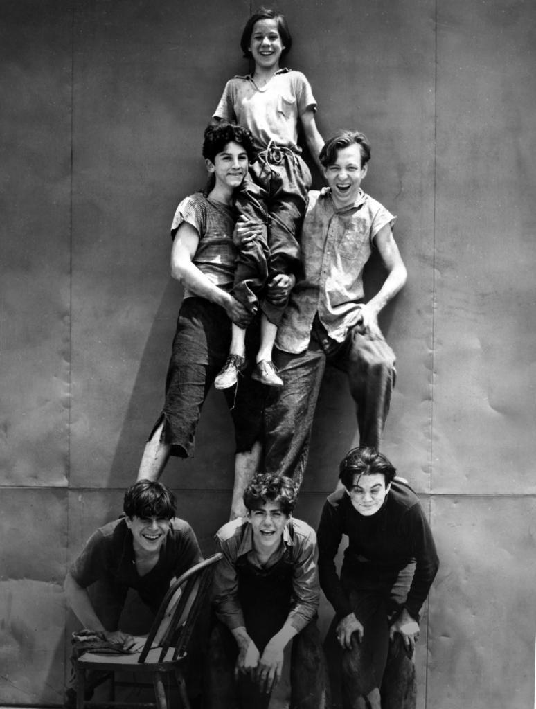 A Portrait the Dead End Kids Making A Human Pyramid Photo Print