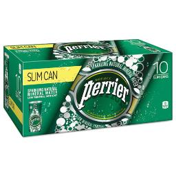 Sparkling Natural Mineral Water 8 OZ Can 10 Per Pack 3 Pack Per Each Carton