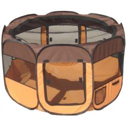 Pet Life LLC 1PPBOLG All-Terrain' Lightweight Easy Folding Wire-Framed Collapsible Travel Pet Playpen