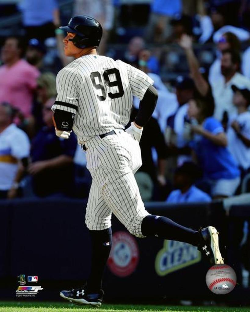 Aaron Judge hits his 50th Home Run of the season- the most ever by a rookie- September 25, 2017 Photo Print