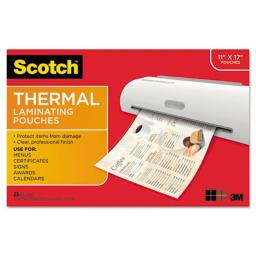 3M & Commercial Tape Div TP385625 Menu Size Thermal Laminating Pouches, 3 mil.