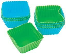 Silicone Standard Baking Cups Square 12/Pkg
