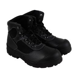 Condor Steel Toe Work Boot Mens Black Leather Casual Dress Boots Shoes