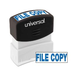 Message Stamp File Copy Pre-Inked One-Color Blue   Total Quantity: 1